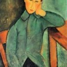 Modigliani - Boy in a blue jacket - A3 Poster