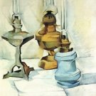 Still life with three lamps by Juan Gris - 24x18 IN Canvas