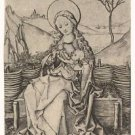 Madonna and Child on the turf bench (1470-1490) - A3 Poster
