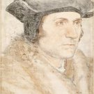 Portrait of Sir Thomas More. c.1527 - 24x18 IN Canvas