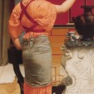 Godward - Lesbia with her Sparrow - A3 Paper Print