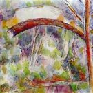 River at the Bridge of Three Sources by Cezanne - A3 Poster
