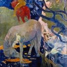 The White Horse by Gauguin - Poster (24x32IN)