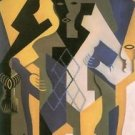 Harlequin with table by Juan Gris - 24x18 IN Poster