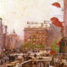 View of Broadway and Fifth Avenue, 1890 - 24x18 IN Canvas