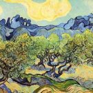 Landscape with olive Trees by Van Gogh - A3 Paper Print