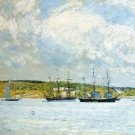 A Parade of Boats, 1894-95 - 24x32 IN Canvas