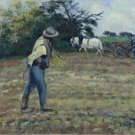 The Sower and the Ploughman, Montfoucault, 1875 - 30x40 IN Canvas