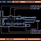 Vinteja charts of - LCARS UFP Torpedo Probe Launcher - A3 Paper Print