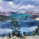 Walchensee with larch by Lovis Corinth - A3 Poster