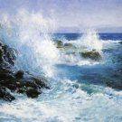 The Sea View of Cliffs - 24x32 IN Canvas