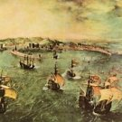 Port of Naples by Pieter Bruegel - 30x40 IN Canvas