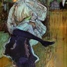 Jane Avril Dancing 2 by Toulouse-Lautrec - 30x40 IN Canvas