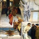 An audience with Agrippa by Alma-Tadema - 24x18 IN Canvas