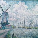 Signac - Canal of Overschie - 24x18IN Canvas Painting