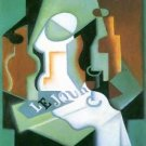 Bottle and fruit bowl [1] by Juan Gris - 24x18 IN Poster