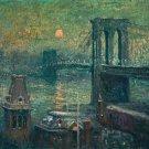 Brooklyn Bridge, 1907-10 - 24x18 IN Canvas