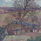 Farm and Trees at Saint-Cheron, 1893 - 24x18 IN Poster