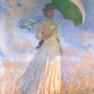 Woman with Parasol - 30x40 IN Canvas