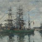 Harbor of Deauville, 1878 - A3 Poster