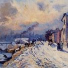 Banks of the Seine, Winter at Herblay - A3 Poster