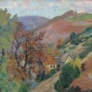 Landscape with Mounts, 1895 - 30x40 IN Canvas
