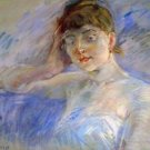 Young woman in white by Morisot - A3 Poster