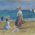Figures on the Beach, 1890s - 24x18 IN Poster