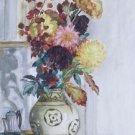 Vase of Chrysantemums - A3 Poster