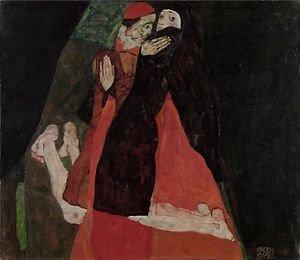 Egon Schiele - Cardinal and Nun - A3 Poster
