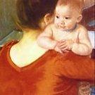 Mother and Child by Renoir - A3 Poster