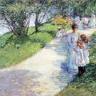 In Central Park by Hassam - A3 Poster