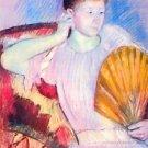 Lady with Fan by Cassatt - A3 Poster