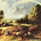 Landscape with Rainbow by Rubens - A3 Poster