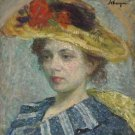 Woman in a Hat - Poster Print (24 X 18 Inch)