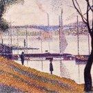 Bridge of Courbevoie by Seurat - 24x18 IN Poster