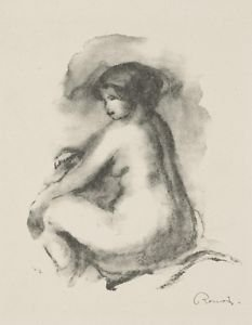 Study of Female Nude Seated, 1904 - 24x18 IN Poster