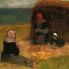 Breton Women with Haystack, 1890 - A3 Poster