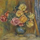 Roses with Blue Curtain, 1912 - A3 Poster