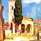 Church in Cagnes by Renoir - A3 Paper Print