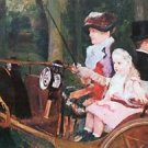 In the wagon by Cassatt - A3 Paper Print
