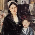 Madame Boursier and Her Daughter - 1874 - 24x18 IN Poster