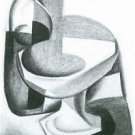 Bottle and fruit bowl [2] by Juan Gris - 24x18 IN Poster