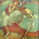 Dancers in green by Degas - A3 Poster