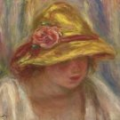 Study of a Woman in a Yellow Hat - A3 Poster