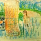 Chair in the garden [2] by Morisot - A3 Poster