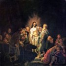 The unbelieving Thomas [1] by Rembrandt - A3 Poster