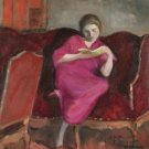 Woman Sitting on a Sofa - 24x32 IN Canvas