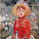 Young girl with cage by Morisot - A3 Poster