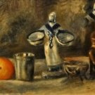 Still Life with Faience Figure, 1880 - 24x32 IN Canvas
